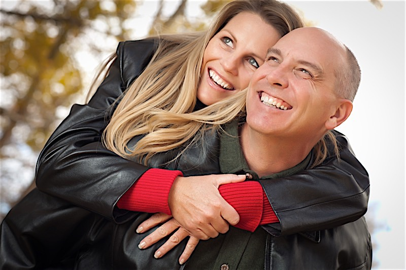 Smiling Adult Couple
